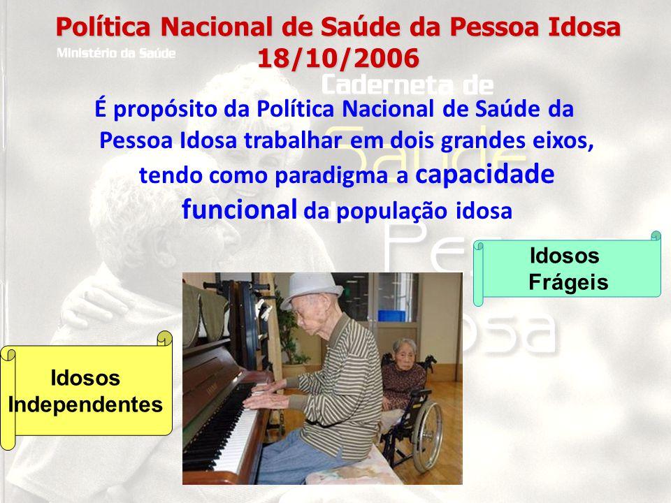 Política Nacional de Saúde da Pessoa Idosa 18/10/2006