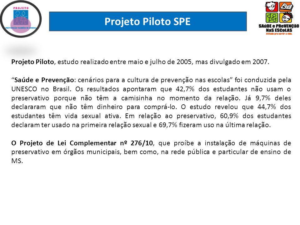 Projeto Piloto SPE Projeto Piloto, estudo realizado entre maio e julho de 2005, mas divulgado em 2007.