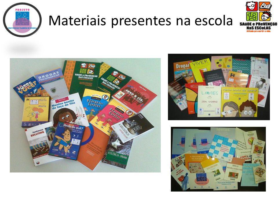 Materiais presentes na escola