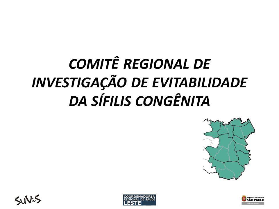COMITÊ REGIONAL DE INVESTIGAÇÃO DE EVITABILIDADE DA SÍFILIS CONGÊNITA