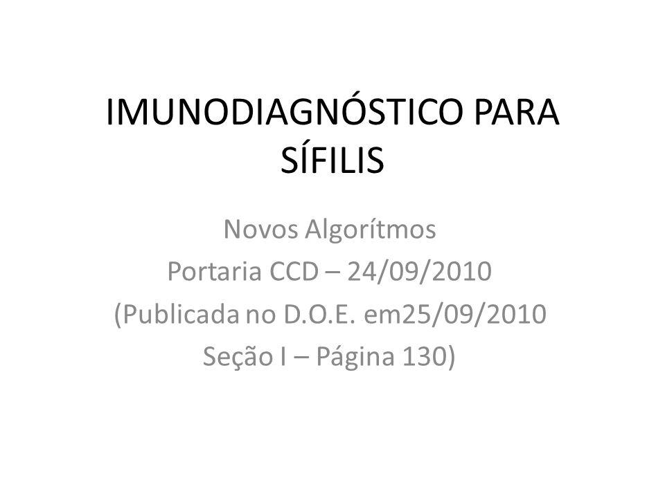 IMUNODIAGNÓSTICO PARA SÍFILIS