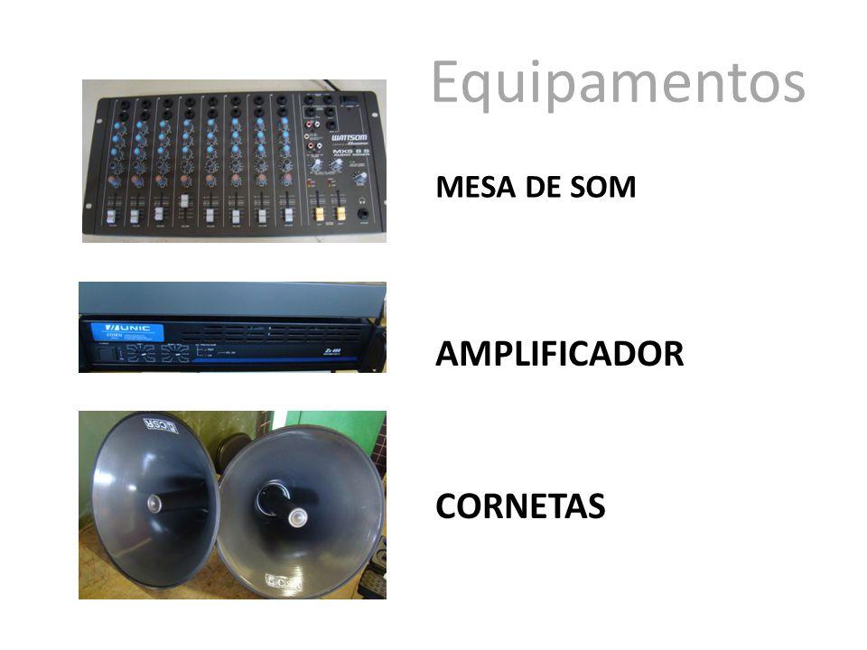 Equipamentos MESA DE SOM AMPLIFICADOR CORNETAS