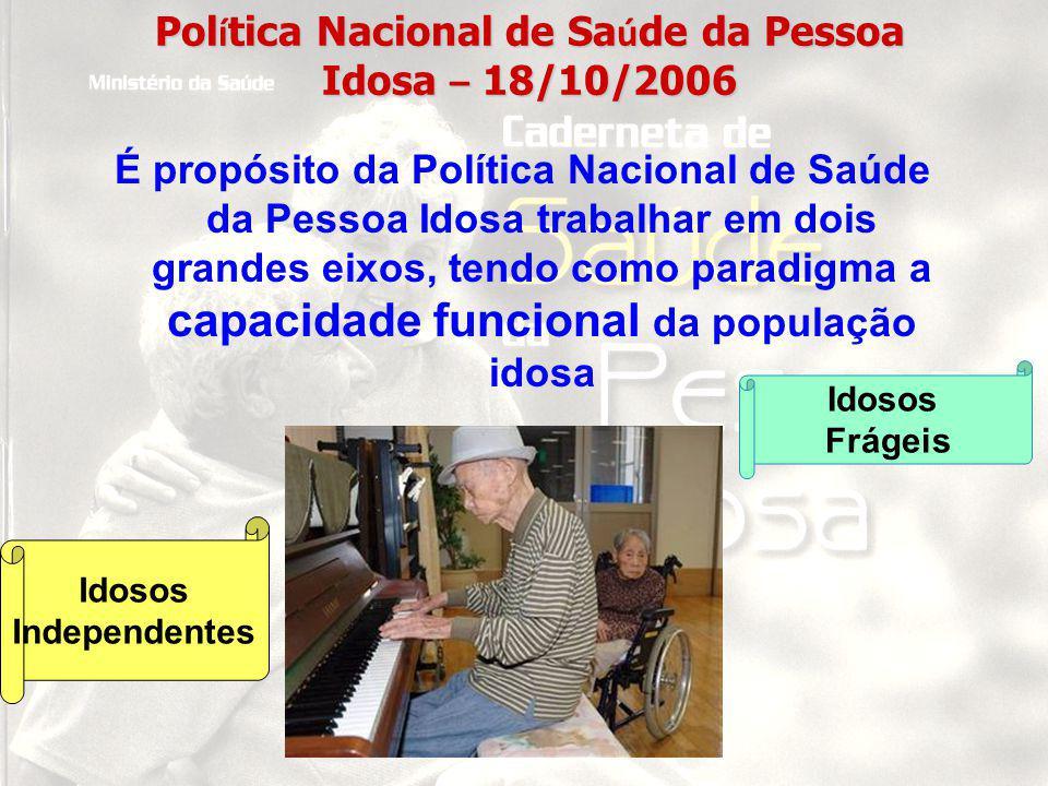 Política Nacional de Saúde da Pessoa Idosa – 18/10/2006