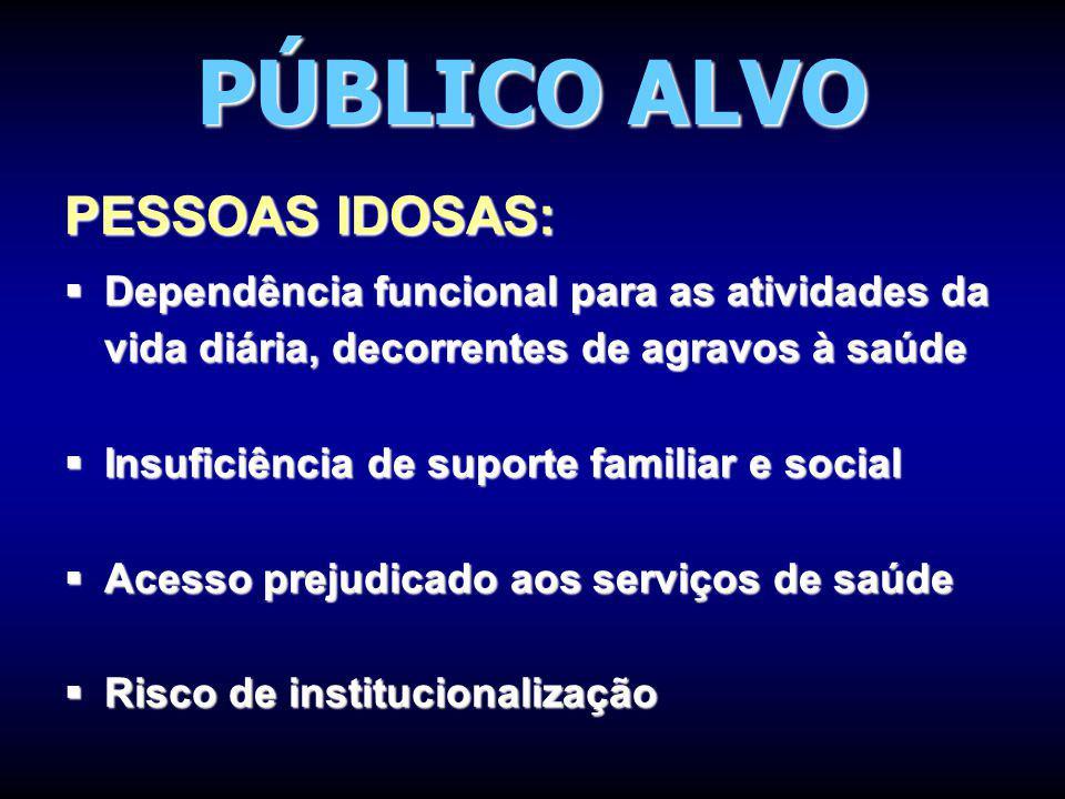PÚBLICO ALVO PESSOAS IDOSAS:
