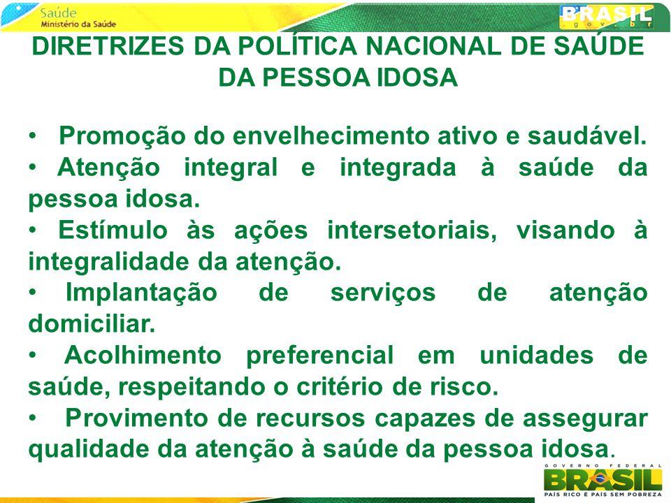 DIRETRIZES DA POLÍTICA NACIONAL DE SAÚDE DA PESSOA IDOSA