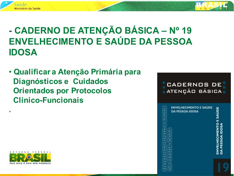 - CADERNO DE ATENÇÃO BÁSICA – Nº 19