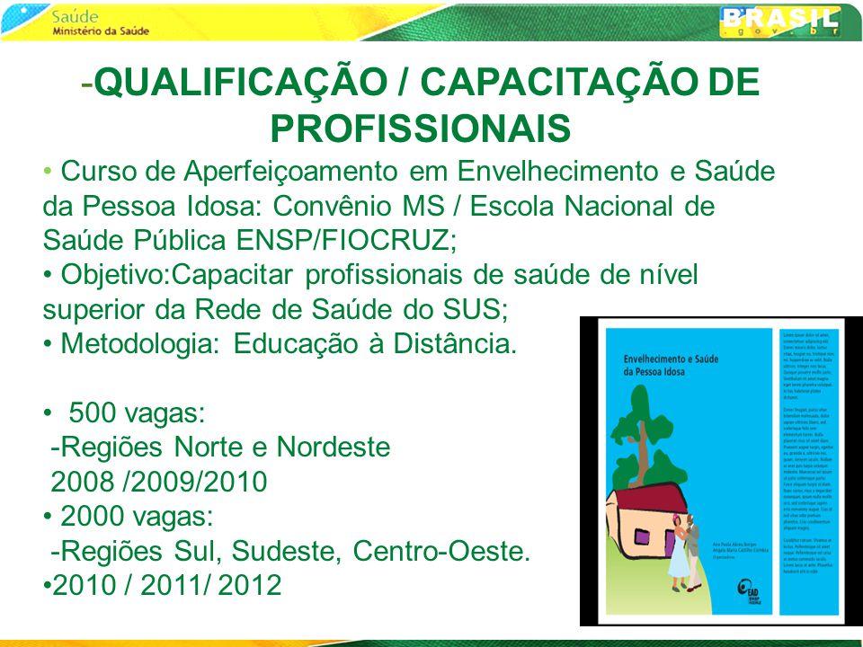 -QUALIFICAÇÃO / CAPACITAÇÃO DE PROFISSIONAIS