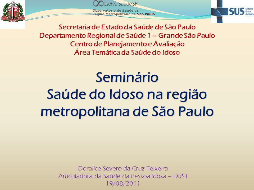 Saúde do Idoso na região metropolitana de São Paulo