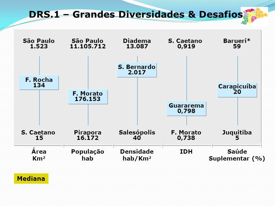 DIVERSIDADES DRS.1 – Grandes Diversidades & Desafios Mediana São Paulo