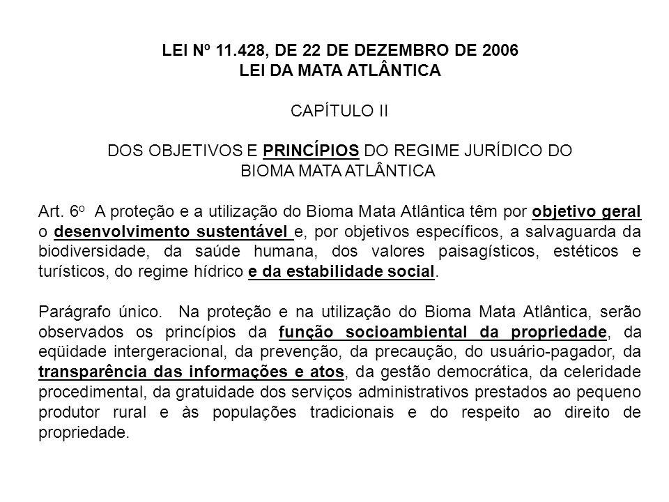 DOS OBJETIVOS E PRINCÍPIOS DO REGIME JURÍDICO DO