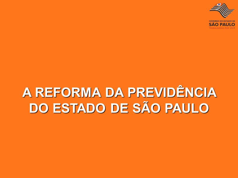 A REFORMA DA PREVIDÊNCIA DO ESTADO DE SÃO PAULO