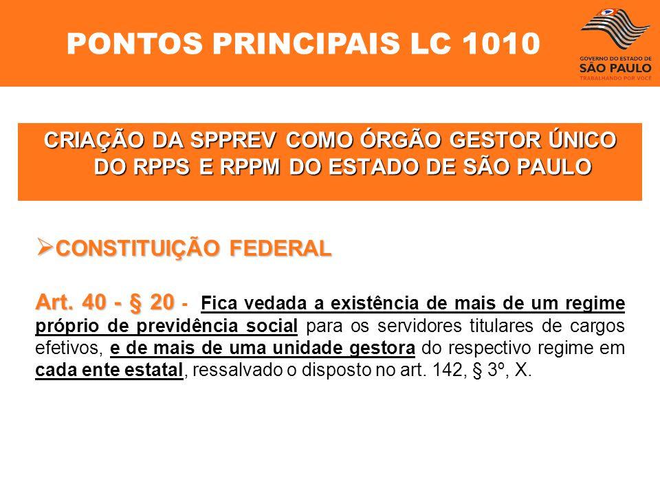 PONTOS PRINCIPAIS LC 1010 CONSTITUIÇÃO FEDERAL