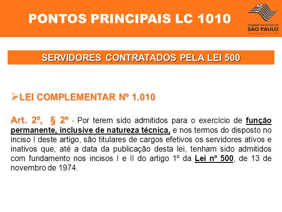 SERVIDORES CONTRATADOS PELA LEI 500