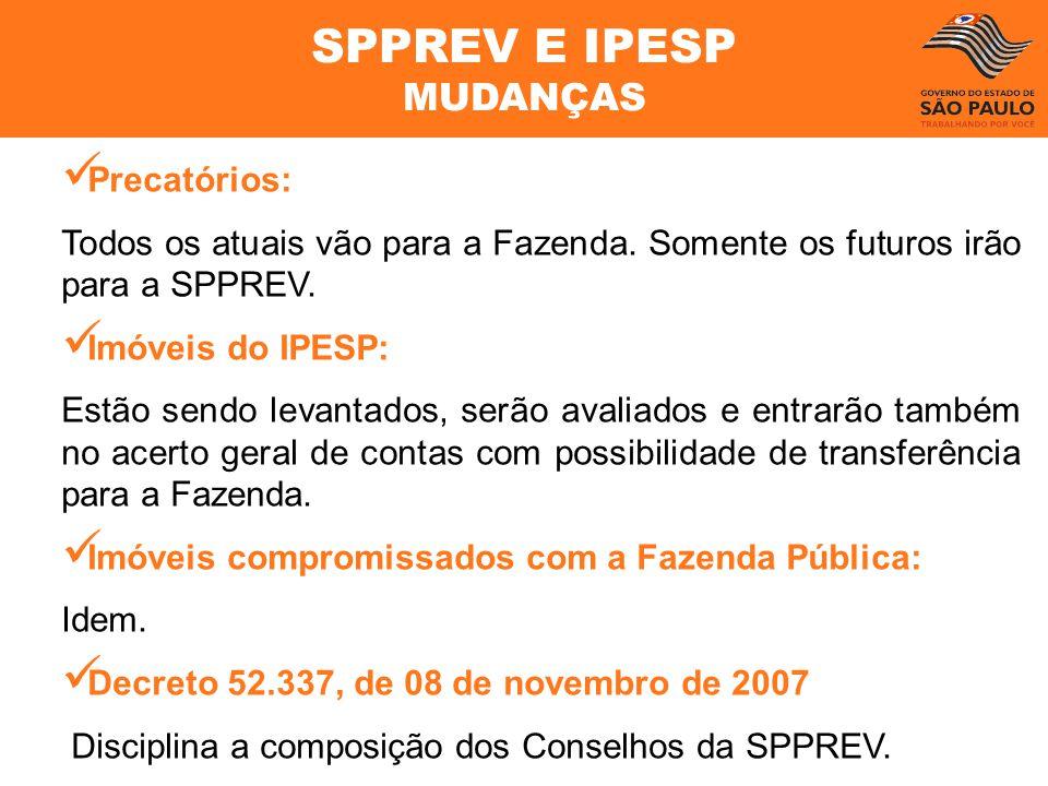 SPPREV E IPESP MUDANÇAS