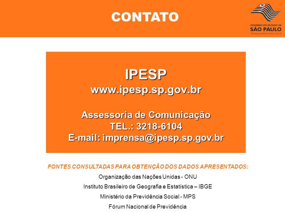 IPESP CONTATO www.ipesp.sp.gov.br Assessoria de Comunicação