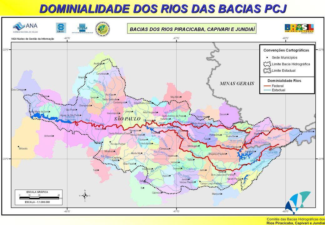 DOMINIALIDADE DOS RIOS DAS BACIAS PCJ