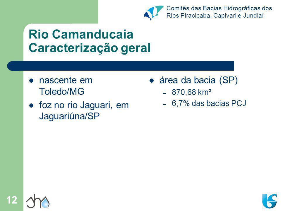 Rio Camanducaia Caracterização geral