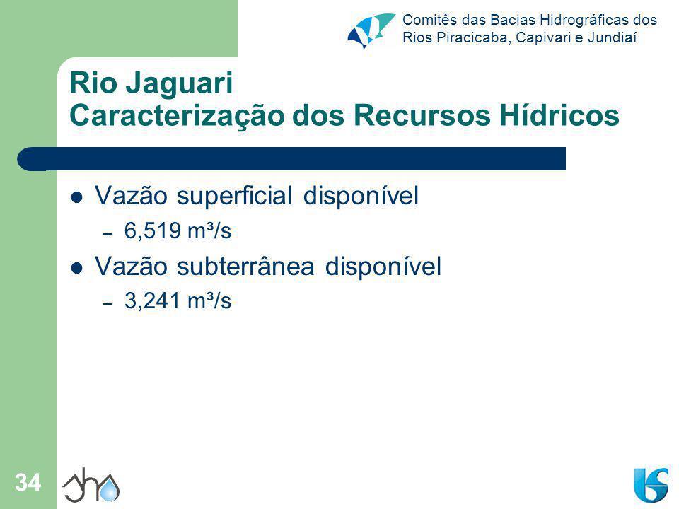 Rio Jaguari Caracterização dos Recursos Hídricos