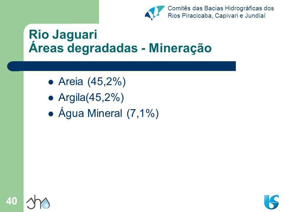Rio Jaguari Áreas degradadas - Mineração