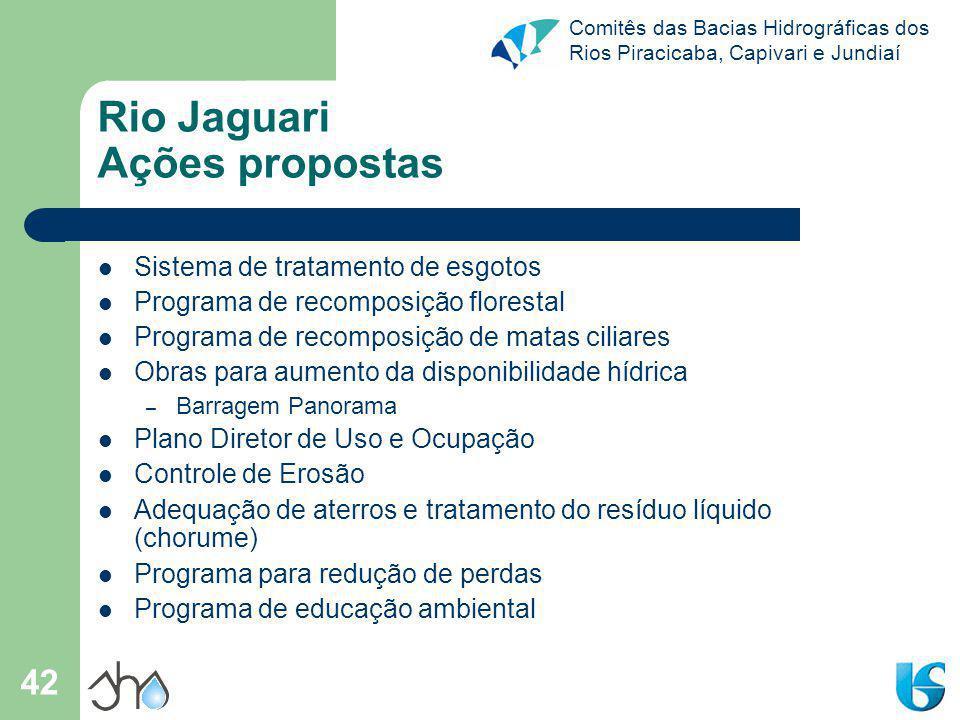 Rio Jaguari Ações propostas