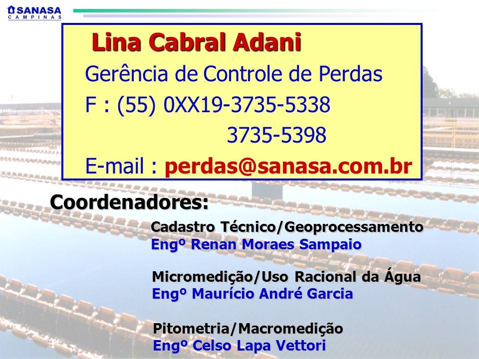Lina Cabral Adani Gerência de Controle de Perdas
