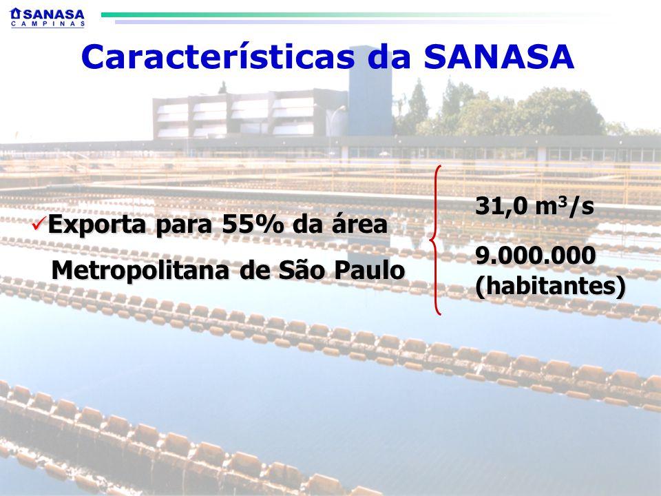 Características da SANASA Metropolitana de São Paulo