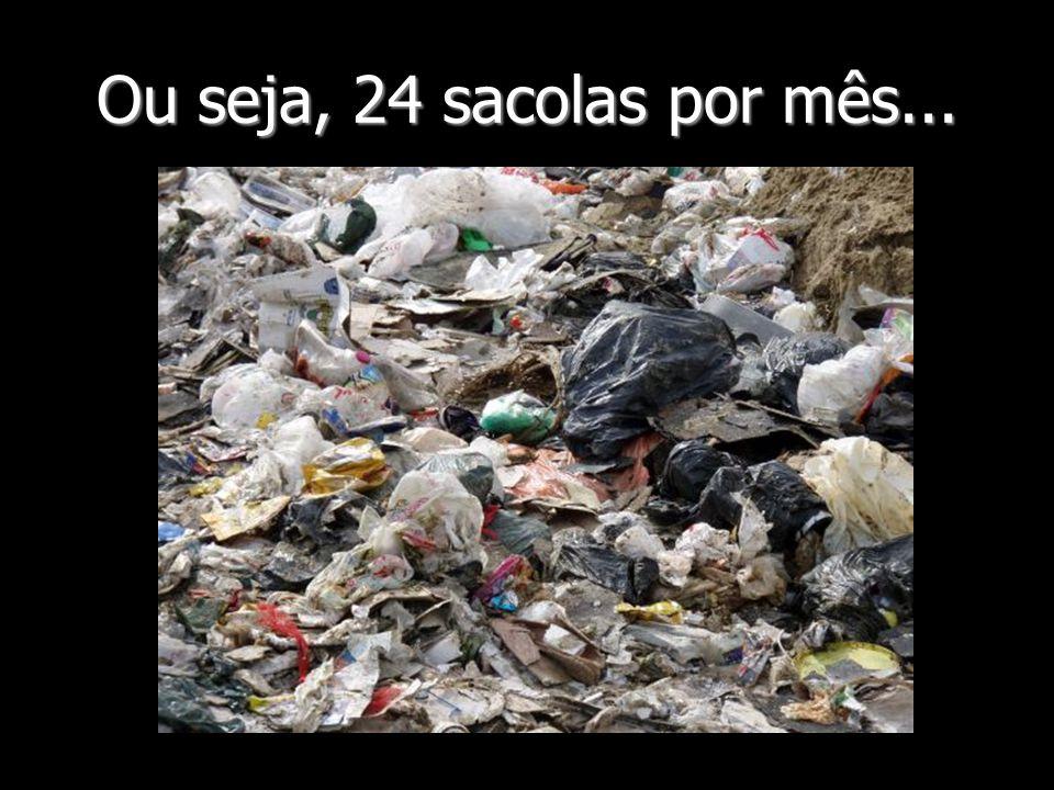 Ou seja, 24 sacolas por mês...