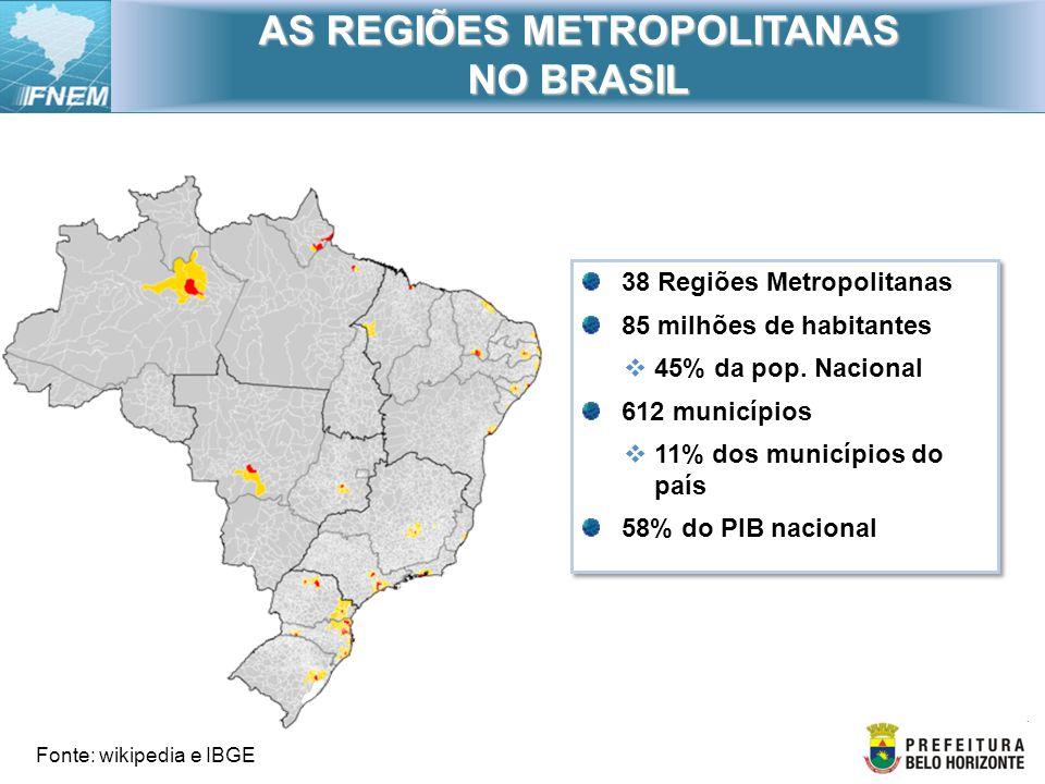 AS REGIÕES METROPOLITANAS NO BRASIL