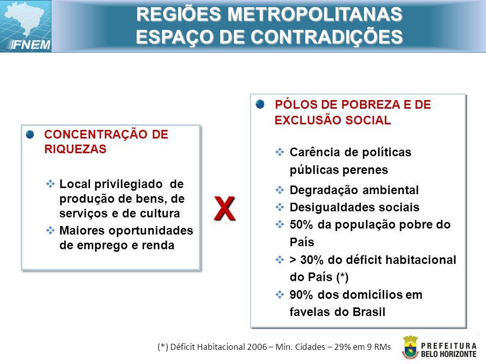 REGIÕES METROPOLITANAS ESPAÇO DE CONTRADIÇÕES