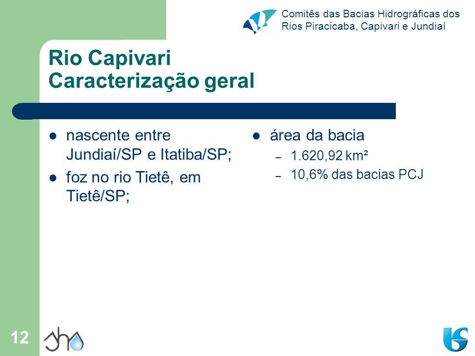Rio Capivari Caracterização geral