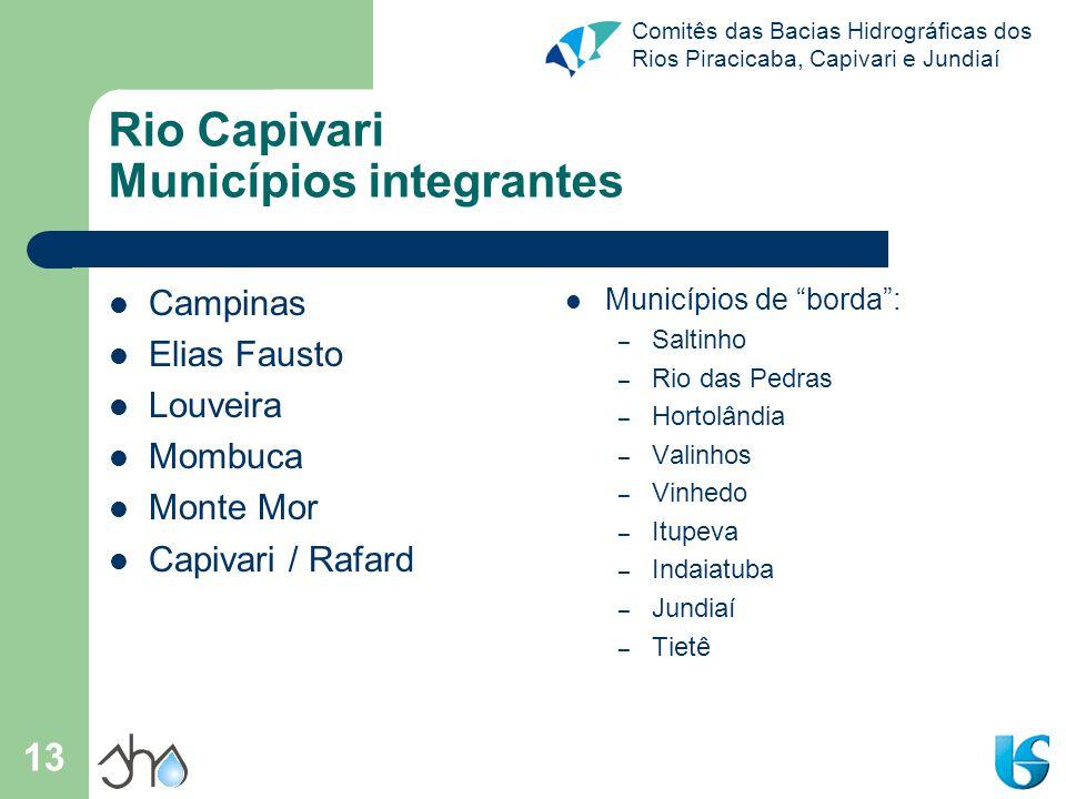 Rio Capivari Municípios integrantes