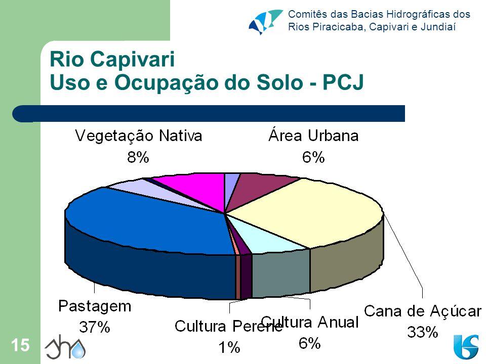 Rio Capivari Uso e Ocupação do Solo - PCJ