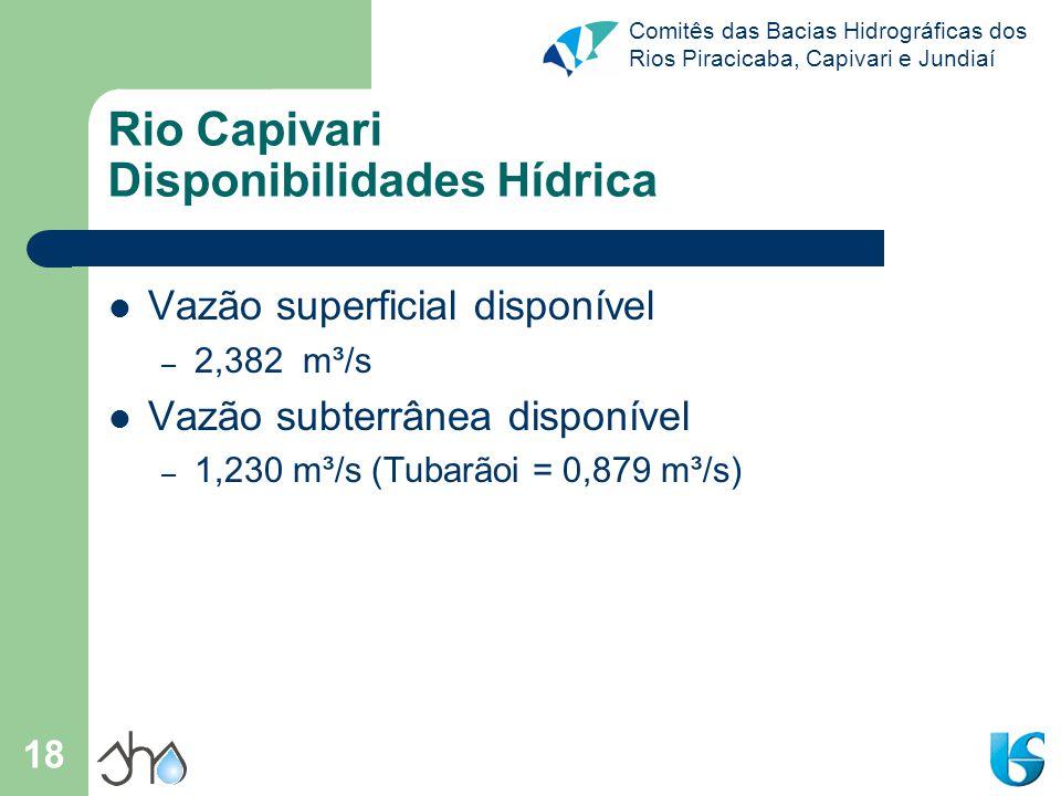 Rio Capivari Disponibilidades Hídrica