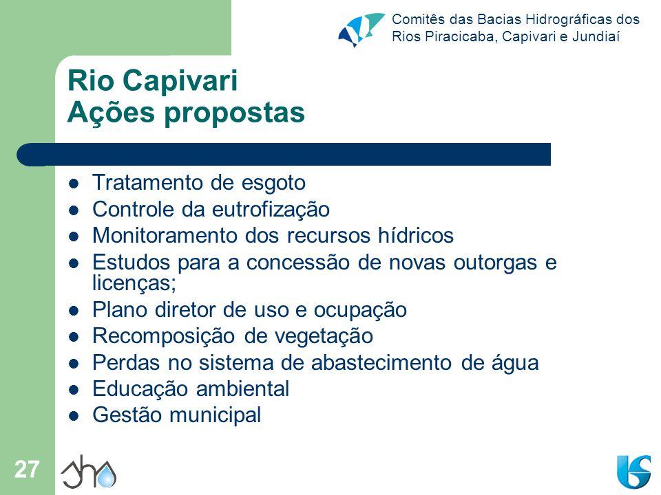 Rio Capivari Ações propostas