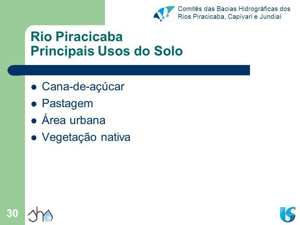 Rio Piracicaba Principais Usos do Solo
