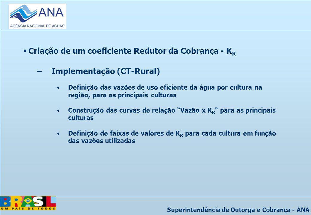 Criação de um coeficiente Redutor da Cobrança - KR