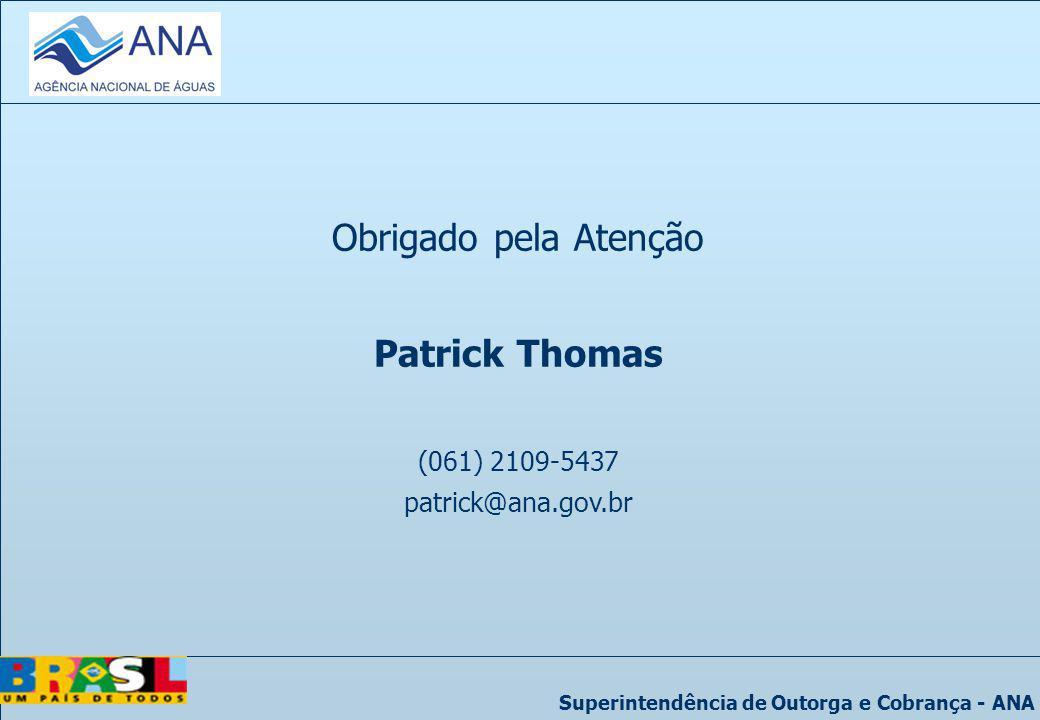 Obrigado pela Atenção Patrick Thomas (061) 2109-5437