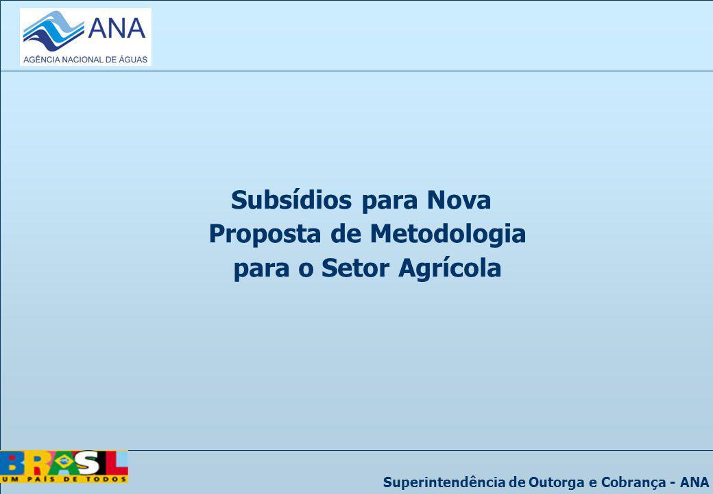 Subsídios para Nova Proposta de Metodologia para o Setor Agrícola
