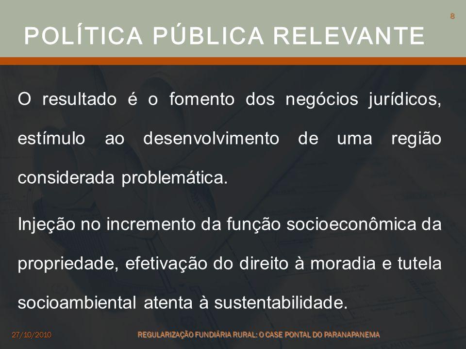 POLÍTICA PÚBLICA RELEVANTE