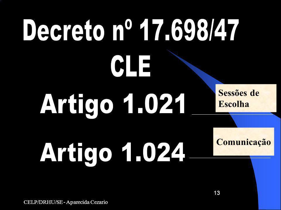 Decreto nº 17.698/47 CLE Artigo 1.021 Artigo 1.024