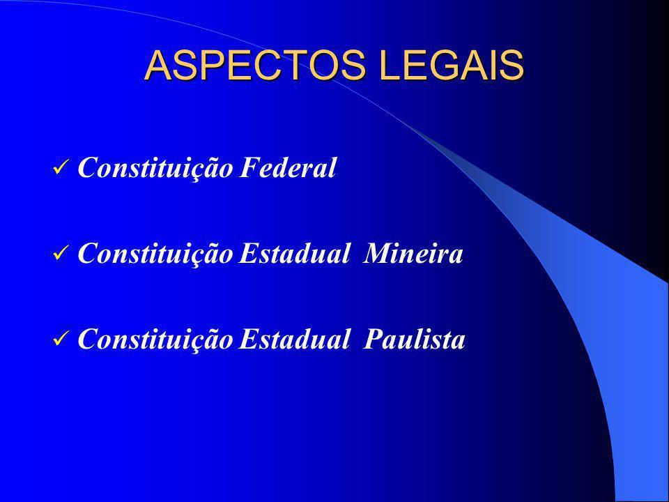 ASPECTOS LEGAIS Constituição Federal Constituição Estadual Mineira