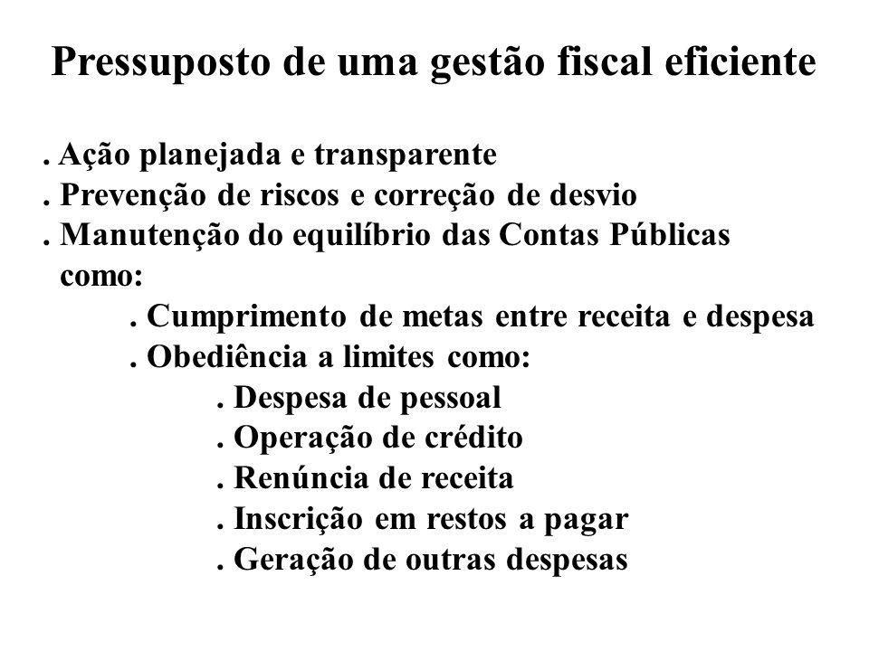 Pressuposto de uma gestão fiscal eficiente