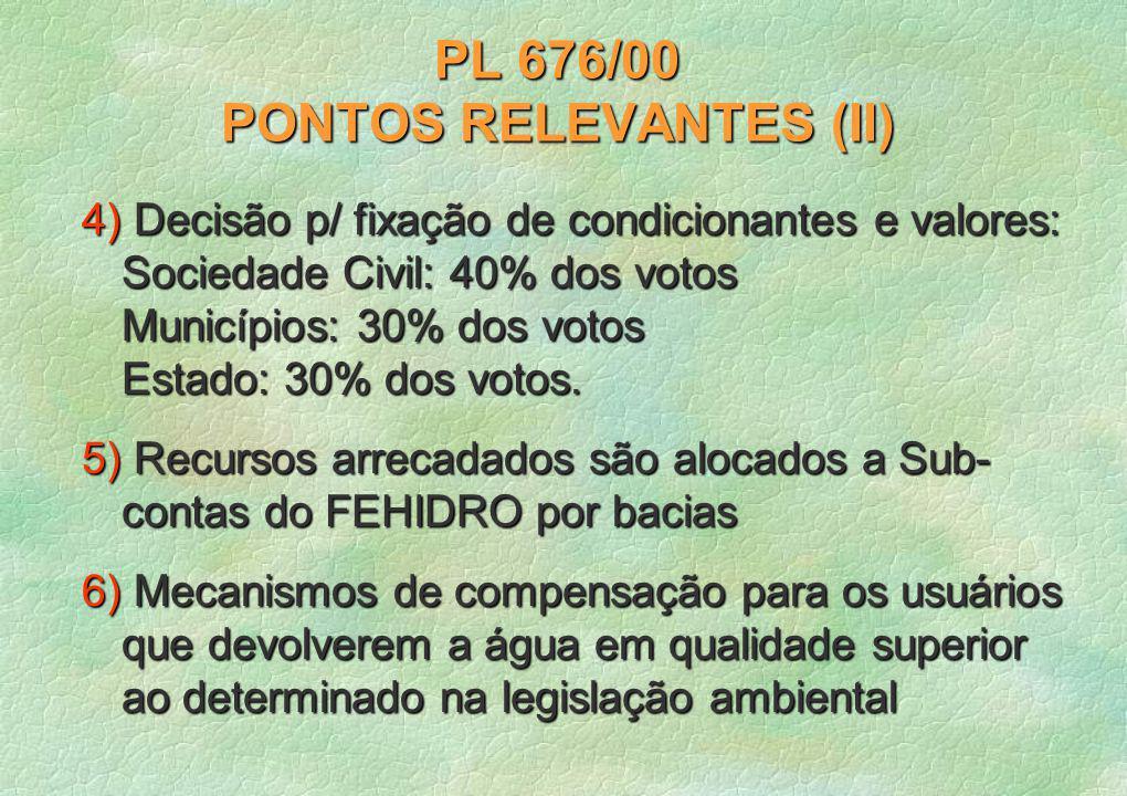 PL 676/00 PONTOS RELEVANTES (II)