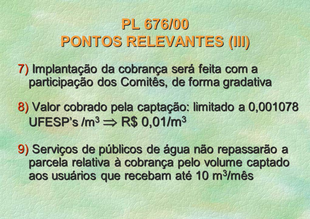 PL 676/00 PONTOS RELEVANTES (III)