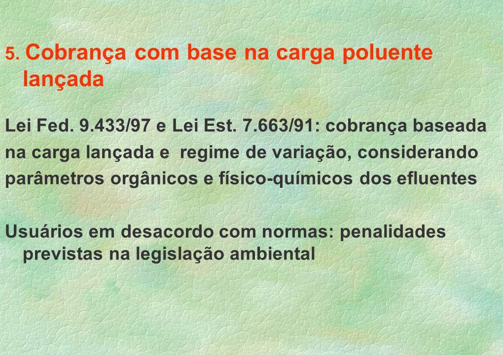 5. Cobrança com base na carga poluente lançada