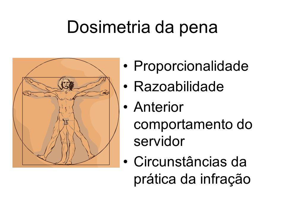 Dosimetria da pena Proporcionalidade Razoabilidade