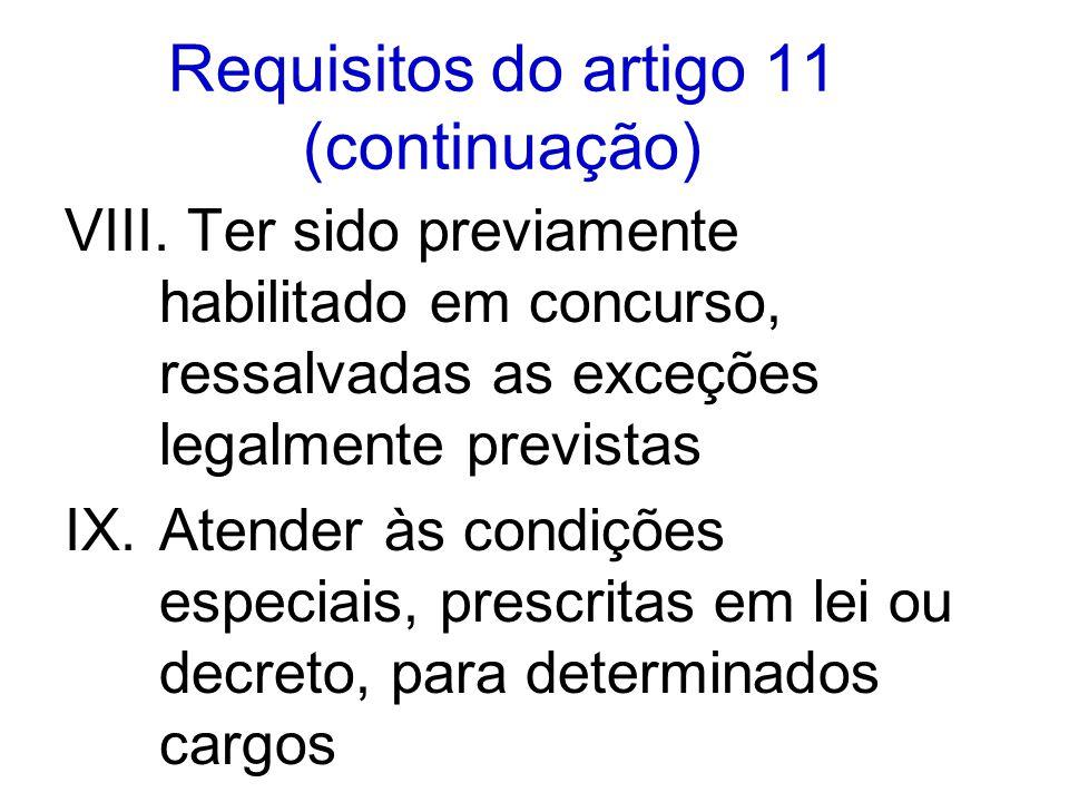 Requisitos do artigo 11 (continuação)