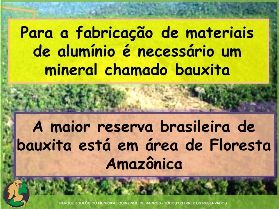 Para a fabricação de materiais de alumínio é necessário um mineral chamado bauxita