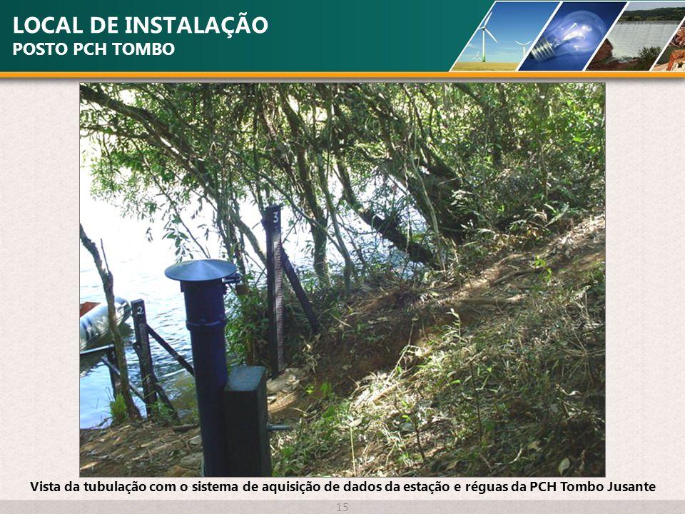 LOCAL DE INSTALAÇÃO POSTO PCH TOMBO