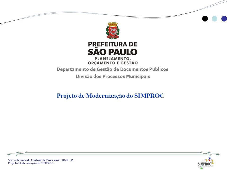 Projeto de Modernização do SIMPROC